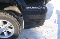 Уголки на задний бампер Toyota Land Cruiser Prado 120 кузова